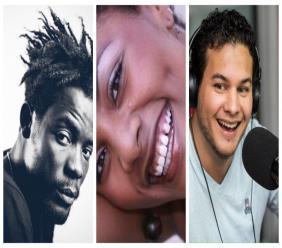 Les réalisateurs haïtiens Pierre-Michel Jean, Gessica Fabiola Geneus, Bruno Mourral/ Collage/LoopHaïti