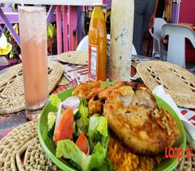Bajan food from a stop in Bathsheba. So yummy!