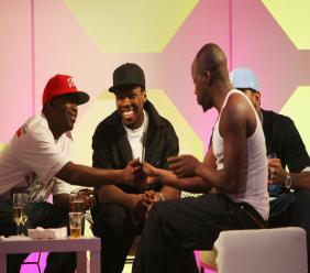 Lloyd Banks (à g.), 50 Cent (milieu), Wyclef Jean (à d.)/Photo: MTV Australia Awards 2008