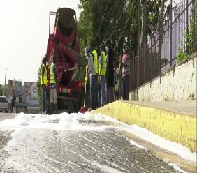 The public space was sanitized on June 28 through a partnership with Caribbean Cement Company, Jamaica Pre-Mix Limited and the St James Municipal Corporation.