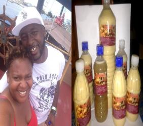 The Richardsons alongside their products