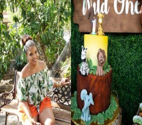 Janelle Joyeux and one of her custom cakes