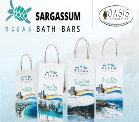 OCEAN by OASIS are beauty bars made with sargassum and other plants from Barbados.