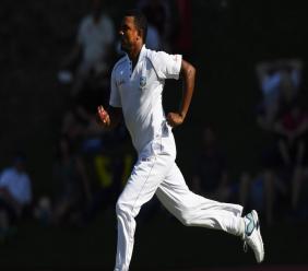 West Indies fast bowler Shannon Gabriel.