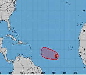 Five-day graphical outlook (Source: NOAA - NHC)