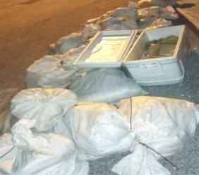 The packages that were seized