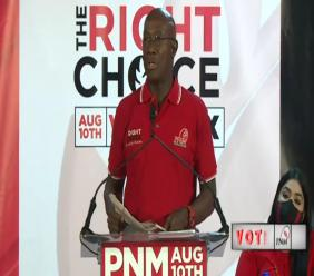 Prime Minister Dr Keith Rowley.