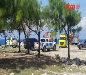 Emergency ambulance services, fire officials and police personnel were on the scene of where a female body was discovered near the Animal Flower Cave.