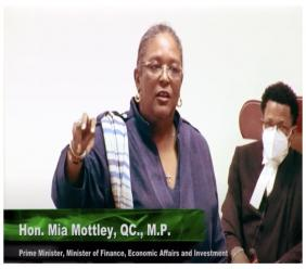 Prime Minister Mia Mottley speaking in the House of Assembly on Tuesday.