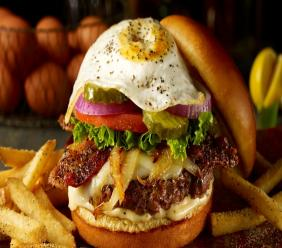 A Hangover Burger from TGI Fridays.