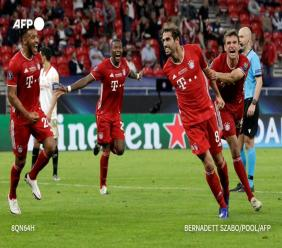 Le Bayern remporte la Super Coupe d'Europe en s'imposant face à Séville après prolongations.
