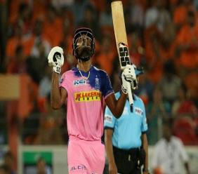 Sanju Sampson scored 85 for the Rajasthan Royals as they chased down an IPL record 224 for victory in Match 9 of the 2020 IPL. (Photo source: Twitter)