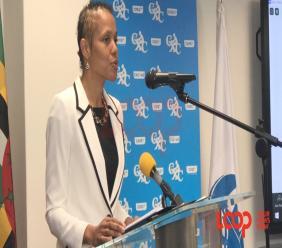 Barbados Education Minister Santia Bradshaw at the CXC Headquarters on September 22.