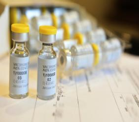 This September 2020 photo provided by Johnson & Johnson shows a single-dose COVID-19 vaccine being developed by the company. Johnson & Johnson is beginning a huge final study to try to prove if the single-dose vaccine can protect against the coronavirus. (Cheryl Gerber/Courtesy of Johnson & Johnson via AP)