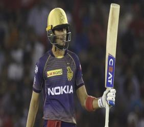 Shubman Gill scored 70* to lead KKR to a seven-wicket win over the Sunrisers Hyderabad in Match 8 of the 2020 IPL. (Photo courtesy BCCI/IPL)