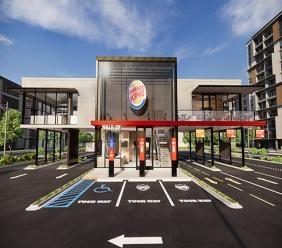 Burger King has unveiled new restaurant design to suit the demands of a COVID-19 world. (Photo: Business Wire)