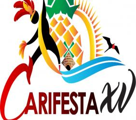 This is the logo for CARIFESTA XV. The festival will now take place in 2022