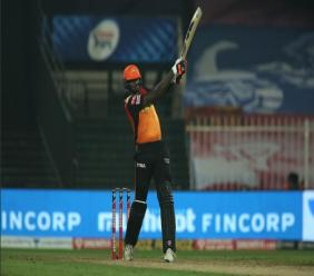 West Indies Test captain Jason Holder in action for Sunrisers Hyderabad in the Indian Premier League.
