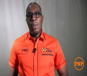 Screengrab of a video posted by Mark Golding's campaign showing Lambert Weir endorsing Golding in his bid to become PNP president.