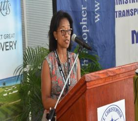 Saint Kitts and Nevis Chief Medical Officer, Dr Hazel Laws.