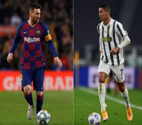 L'attaquant argentin de Barcelone, Lionel Messi (g), le 9 novembre 2019, et l'attaquant portugais de la Juventus, Cristiano Ronaldo, le 20 septembre 2020 / AFP/Archives