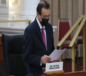 Photo: Energy Minister Franklin Khan. Credit: Office of the Parliament of Trinidad and Tobago.