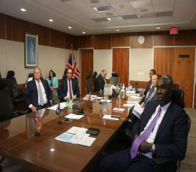 Participants in the yesterday's session of the United Kingdom and British Overseas Territories' Joint Ministerial Council meeting.