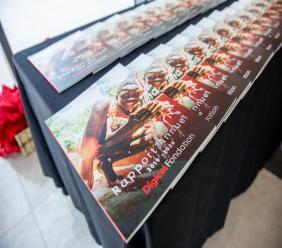 Photo prise lors de la présentation, à Port-au-Prince, du dernier rapport annuel de la Fondation Digicel pour l'exercice fiscal 2019-2020/ Photo: Luckenson Jean