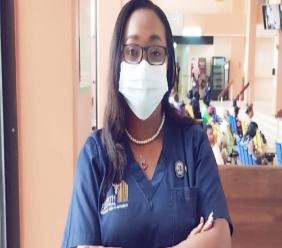 Photo: IPC nurse Keisha Gomez said her team has worked hard to keep staff, patients and others safe during the pandemic. Photo: Keisha Gomez.