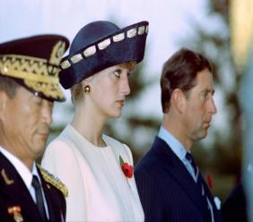 La princesse Diana et le prince Charles, le 2 novembre 1992 à Séoul, en Corée du Sud CHOO Youn-Kong POOL/AFP/Archives
