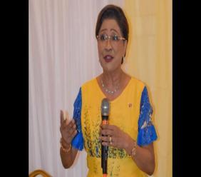 Photo: Kamla Persad-Bissessar at campaign meeting on December 2, via Facebook, Kamla Persad-Bissessar.