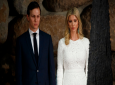 In this May 23, 2017 photo, White House senior adviser Jared Kushner, left, and his wife Ivanka Trump watch during a visit by President Donald Trump to Yad Vashem to honor the victims of the Holocaust in Jerusalem.