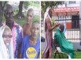Nakisha Murray gave free haircuts to homeless persons in Tamarind Square. She runs her own hairdressing salon