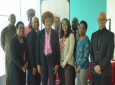 Minister of Community Development, Culture and the Arts, Dr. Nyan Gadsby-Dolly, centre with members of the new NCC Board. From left back, Keith Diaz (Pantribago), Lutalo Masimba (TUCO), Darion Marcelle and Gervon Abraham. In front, Jacqueline Springer-Dillon, Colin Lucas, PS Angela Edwards, Dr. Susan Burke and Ainsworth Mohammed.