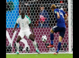 Japan's Keisuke Honda, right, scores his side's second goal past Senegal's Kalidou Koulibaly during the group H match between Japan and Senegal at the 2018 soccer World Cup at the Yekaterinburg Arena in Yekaterinburg , Russia, Sunday, June 24, 2018.