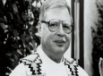 This 1989 file photo of Father Arthur Perrault in Albuquerque, N.M. Perrault. (The Albuquerque Journal via AP, File)