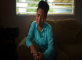 Deputy Mayor Daisy Cruz cries as she denounces adverse conditions to which dialysis patients have been exposed to since Hurricane Maria caused the closure of the Diagnosis and Treatment Center in Vieques, Puerto Rico. Cruz says she is in constant communication with FEMA officials but receives limited answers from local health officials. (AP Photo/Carlos Giusti)