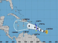 Coastal watches/warnings and forecast cone for Tropical Storm Kirk