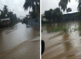 Archive footage of flooding in Chaguanas.