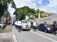 Funeral procession for WPC Racquel Kipps. Photo via The Trinidad and Tobago Police Service (TTPS).