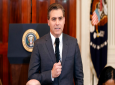 In this Nov. 7, 2018, file photo, CNN journalist Jim Acosta does a standup before a new conference with President Donald Trump in the East Room of the White House in Washington. (AP Photo/Evan Vucci, File)