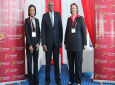 Photo L-R: CIBC Managing Director, Bahamas Prime Minister Hubert Minnis and CIBC FCIB CEO Colette Delaney, Bahamas at CARIF 2018.