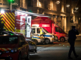 Emergency services patrol at the center of the city of Strasbourg following a shooting, eastern France, Tuesday Dec. 11, 2018. A man who had been flagged as a possible extremist sprayed gunfire near the city of Strasbourg's famous Christmas market Tuesday, killing three people, wounding 12 and sparking a massive manhunt. France immediately raised its terror alert level.(AP Photo/Jean-Francois Badias)