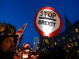 A pro European demonstrator holds a banner near parliament in London, Thursday, Jan. 17, 2019. (AP Photo/Kirsty Wigglesworth)