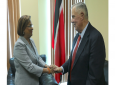 Opposition Leader Kamla Persad-Bissessar met US Ambassador Joseph Mondello on Wednesday at the Office of the Leader of the Opposition, Charles Street, Port of Spain.