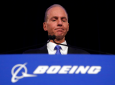 FILE - In this Monday, April 29, 2019 file photo, Boeing Chief Executive Dennis Muilenburg speaks during a news conference after the company's annual shareholders meeting at the Field Museum in Chicago. (AP Photo/Jim Young, file)