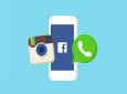 "Illustration de 3 des 4 applications du ""Reseaux Faceebook"" comprenant : Facebook, Whatsapp, Instagram, Messeneger."