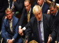 Britain's Prime Minister Boris Johnson speaks in the House of Commons in London following the debate for the EU Withdrawal Agreement Bill, October 22, 2019. (Jessica Taylor, UK Parliament via AP)