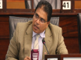 Oropouche East MP Dr. Roodal Moonilal posing a question.