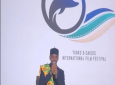 Turks and Caicos islander Dom Rolle introducing his film The Emperor Swims at the TCIFF